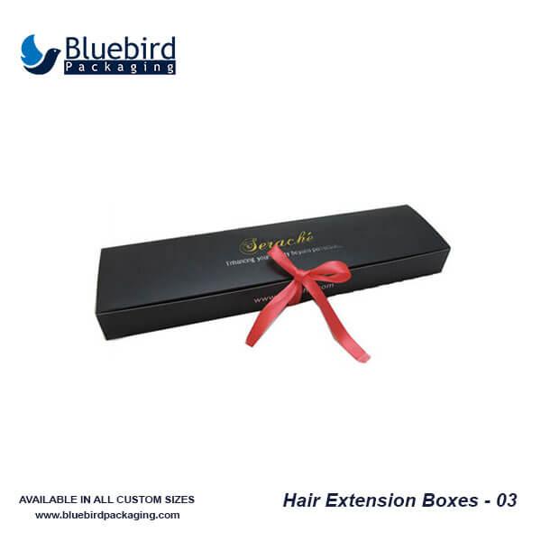 Custom Hair Packaging Boxes Hair Extension Boxes Bluebird Packaging